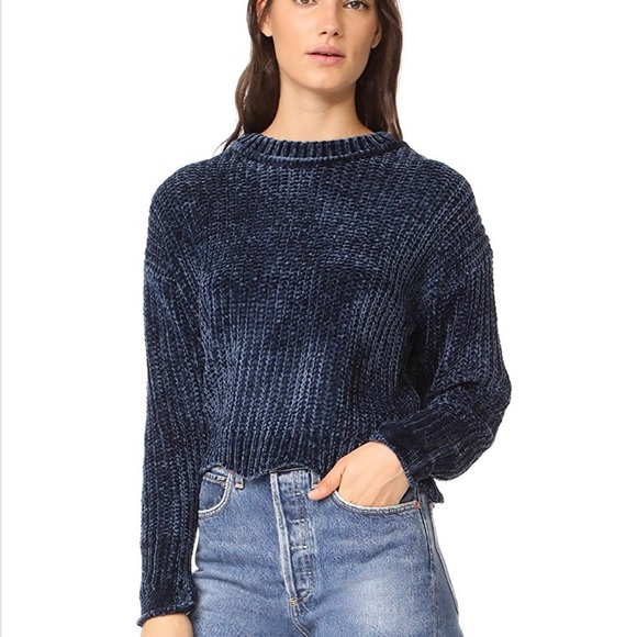 fb20a8b7f8c9 English Factory Sweaters - English Factory - cropped chenille knit sweater